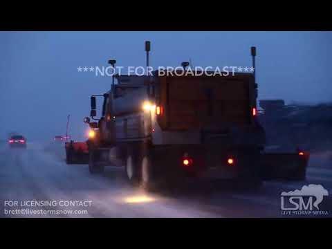 01-14-2018 Rapid City, South Dakota - Heavy Snow Accidents Slide-Offs