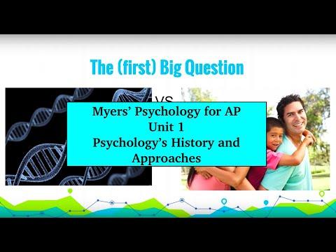 Unit 1 Myers' Psychology for AP
