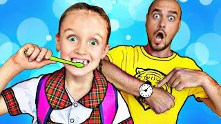 Canción Ponte los Zapatos | Nastya Rutina de la Mañana|Canciones Infantiles |Funny videos Mi Mi Kids