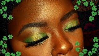 green halo eye for st patty s day   ft 2nd edition 120 color eyeshadow palette  bh cosmetics