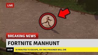 Hunting a WANTED PLAYER in Fortnite Battle Royale! (*NEW* Fortnite Manhunt Gamemode)