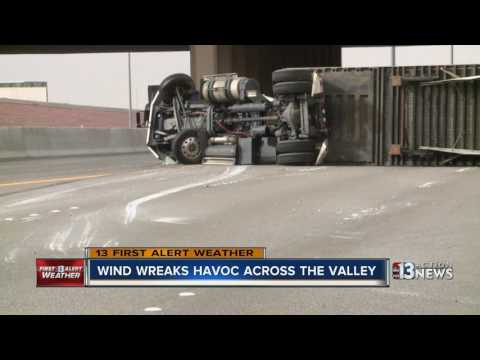 Dust, wind cause damage around Las Vegas valley