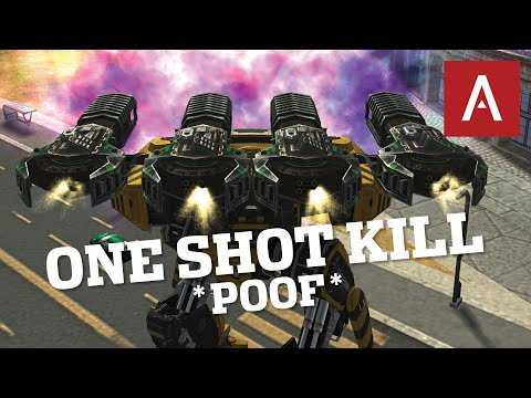 War Robots - One Shot Kill Behemoth Thunder With NEW Damage Module WR Max Gameplay