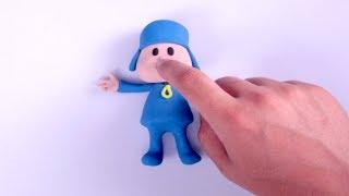 Pocoyo clay cartoon 💕 Superhero Play Doh Stop motion
