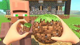 A Circle Block Of Grass - Minecraft Animation