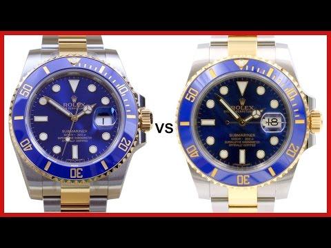 ▶ Rolex Submariner Used vs Brand New COMPARISON  TwoTone, Blue Ceramic, 116613LB