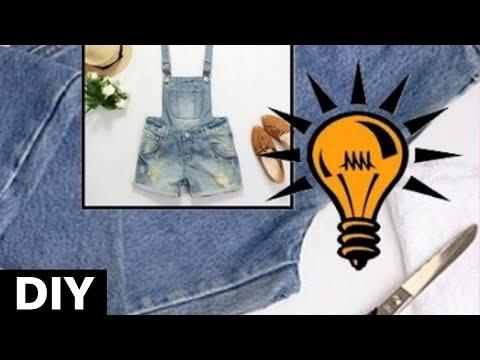 41355818b Customização de calça jeans feminina para macacão jeans feminino.