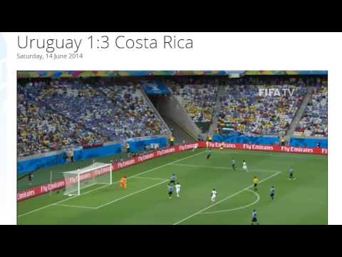 Uruguay 1-3 Costa Rica All Goals & Highlights HD ( FIFA World Cup Brasil 2014)