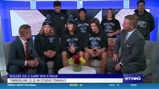 Timberline Wolves join Friday Night Football to talk about their winning streak