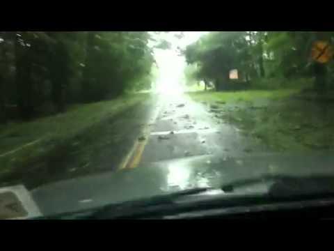 Paso de huracan Irene en Bridgehampton NY