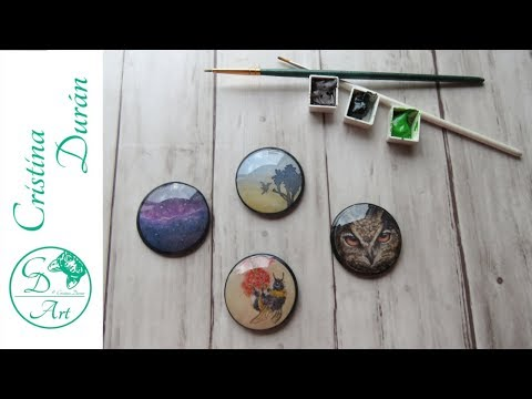 RESIN DIY - Turning Tiny Watercolors into MAGNETS