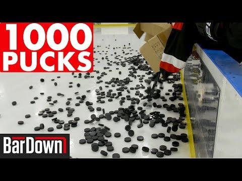 USING 1,000 PUCKS IN HOCKEY WARMUPS