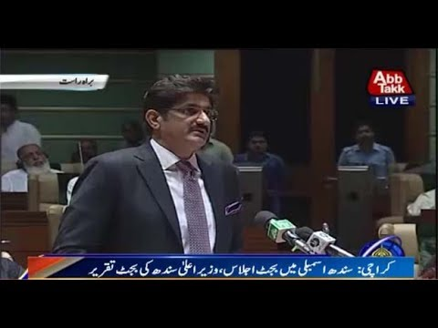 CM Shah Presents Sindh Budget for New Fiscal Year in SA
