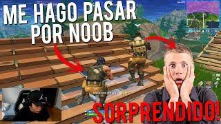 Me hago pasar por noob en Squad Random y termina Sorprendido! - FORTNITE