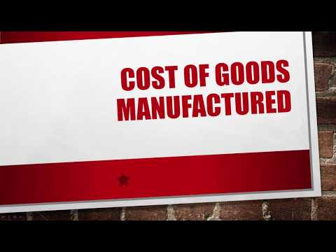 Cost of Goods Manufactured Schedule