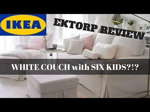 IKEA EKTORP REVIEW - WHITE SLIPCOVERED SOFA WITH SIX KIDS