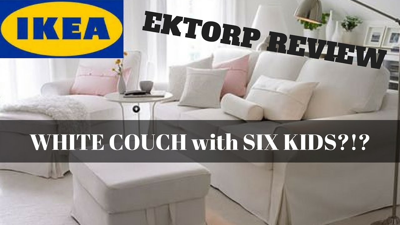 Ikea Ektorp Chair Review Build Adirondack Kit White Slipcovered Sofa With Six Kids Youtube