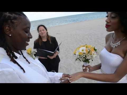 Our Beach Wedding Ceremony! 4.26.16 #HappilyEverAcheampongs