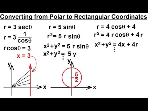 Lecture 4: Converting From Polar to Rectangular Coordinates