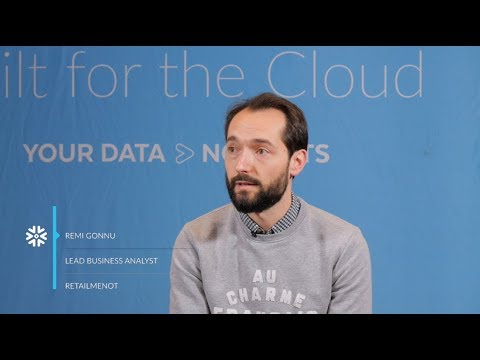 RetailMeNot - En faire plus avec les données grâce à Snowflake