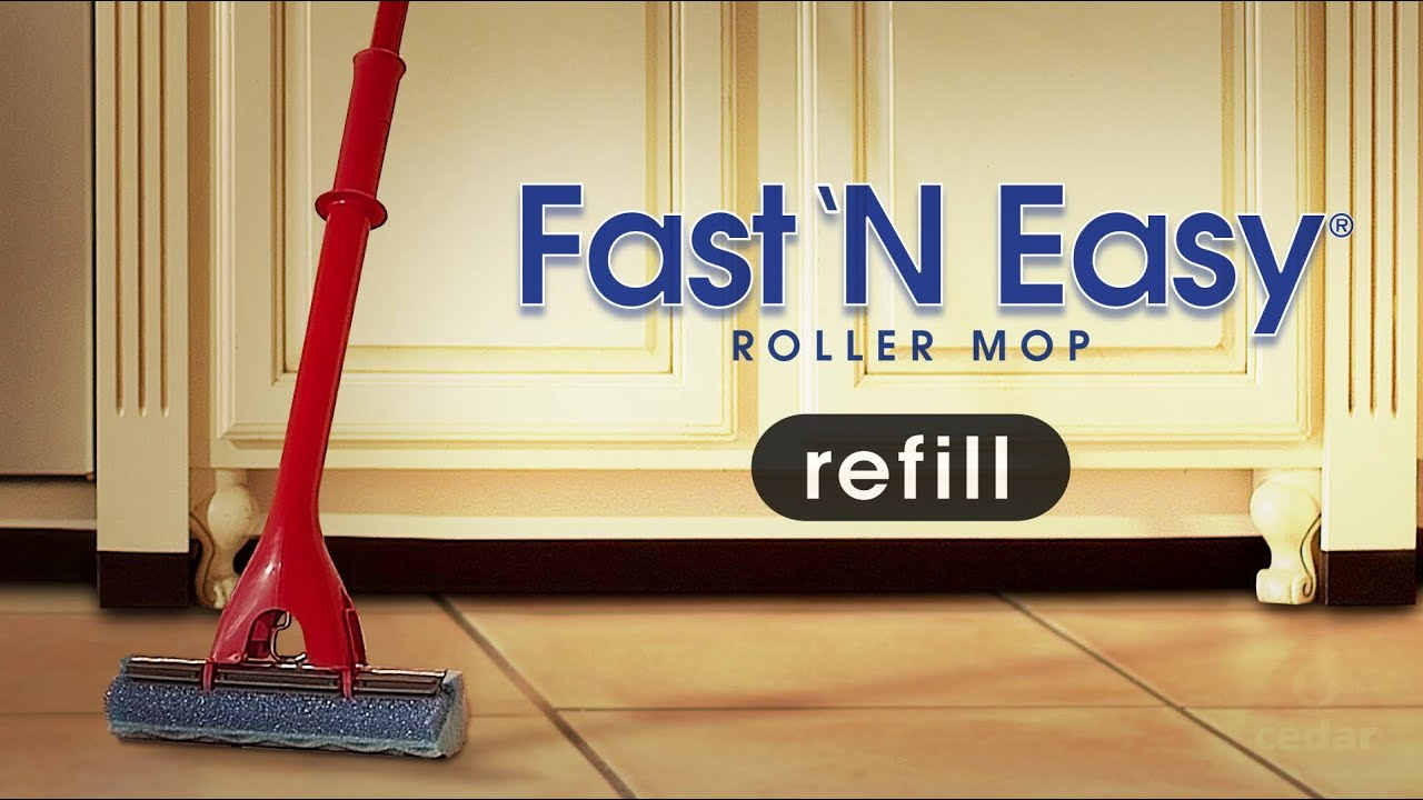 O Cedar Fast N Easy Roller Mop Refill Replacement Youtube