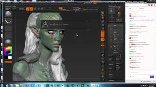 Zbrush: Female Modeling (Alice)/ Alien Concept Continued - 1 / 2