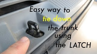 This is by far the easiest way to tie down or hold down your hatch ...