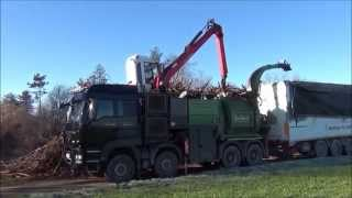 Pth 1200/1000 Hackertruck Pezzolato Drum Wood Chipper, Truck Man 540 Hp Engine, Epsilon Crane