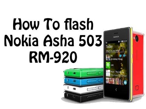 How To Flash Nokia Asha 503 RM-920 - فلاش نوكيا 503