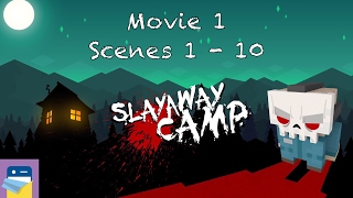 Slayaway Camp: First Movie, Scenes 1 - 10 Walkthrough & Solutions (by Blue Wizard Digital)