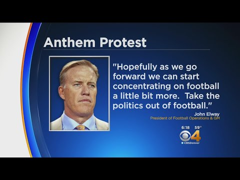 John Elway Comments On National Anthem Actions