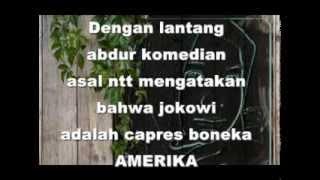 jokowi adalah capres boneka amerika abdur peserta stanup komedi indonesia asal ntt
