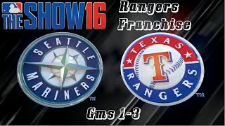 MLB 16 The Show Texas Rangers Franchise - Gms 1-3 vs Seattle Mariners