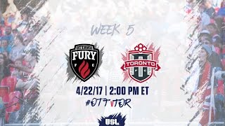 Ottawa Fury vs Toronto FC USL full match