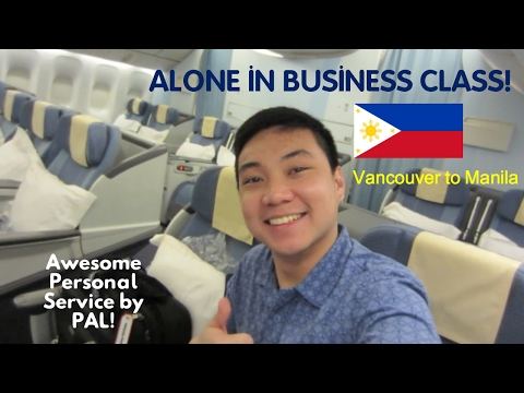 (1/2) PHILIPPINE AIRLINES - MABUHAY BUSINESS CLASS | VANCOUVER TO MANILA - BOEING 777 | FLIGHT VLOG