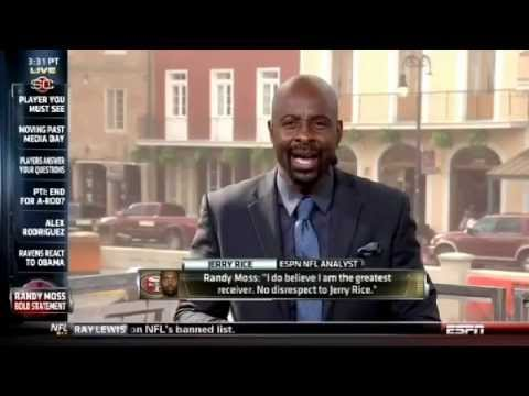 Jerry Rice responds to Randy Moss claiming to be the greatest wide receiver