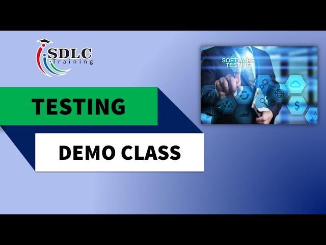 Testing Demo Video   SDLC Training Marathahalli