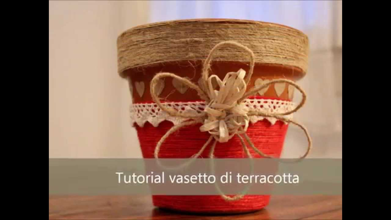 Decorare Vasi Di Terracotta.Tutorial Vaso Di Terracotta