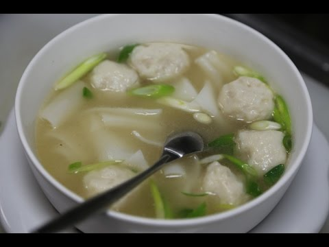 Fish Ball Soup With Rice Noodles 魚丸河粉