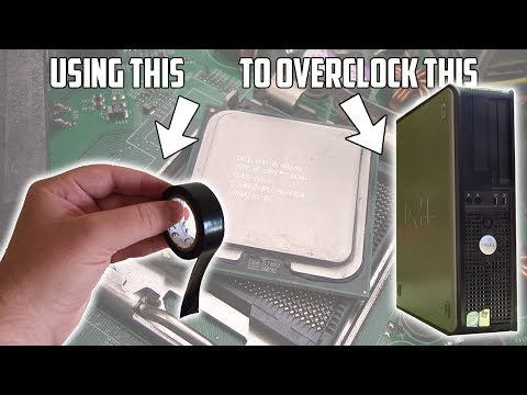 Using Tape To Overclock an Old Optiplex - YouTube