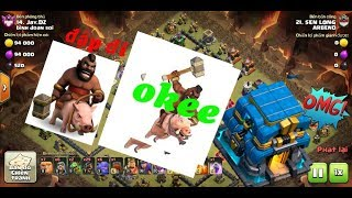 Clash of clans war / đánh heo hall 11 12 cực hay