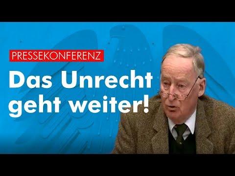 Das Unrecht geht weiter! - Dr. Alexander Gauland - AfD-Fraktion im Bundestag