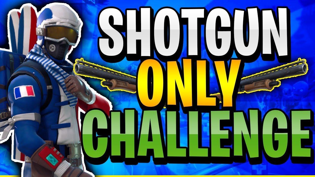 shotgun only challenge crazy ending must see fortnite battle