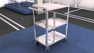 Clickhere2shop  Shelf Rolling Mobile Home Office Kitchen Food Service Push Utility Cart