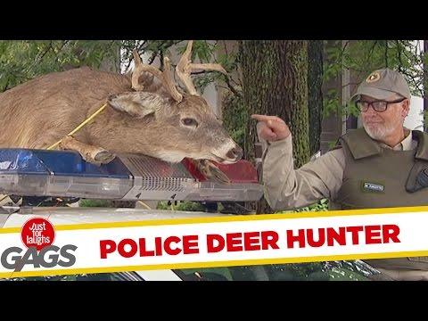 Cop Turns Plastic Deer Hunter