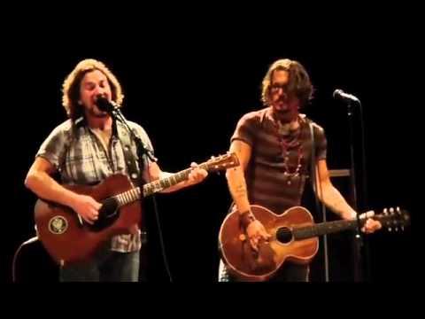 Eddie Vedder ,...Society with johnny Depp
