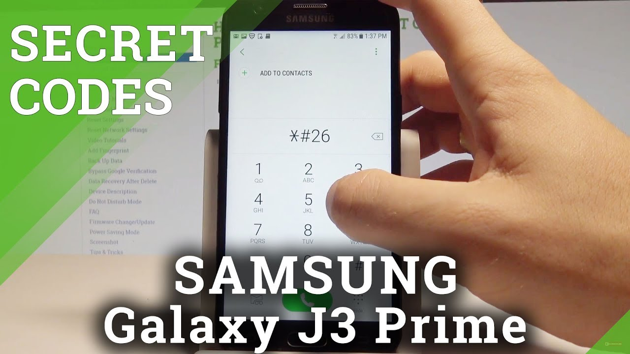 Codes SAMSUNG Galaxy J3 Orbit - HardReset info