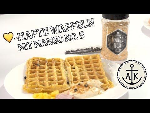 💛-hafte Waffeln mit Mango No  5 - Ankerkraut backt - YouTube