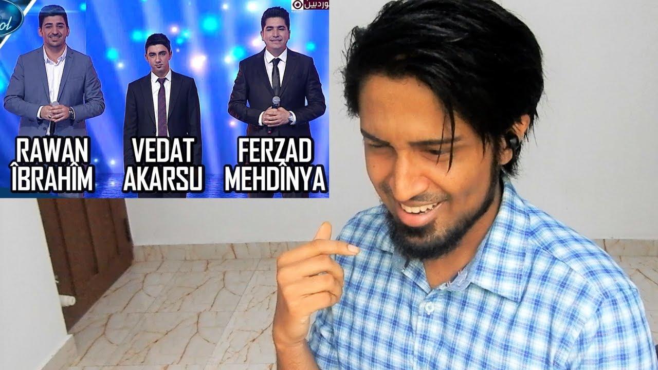 Kurd Idol - Ferzad Mehdînya & Rawan Îbrahîm & Vedat Akarsu REACTION