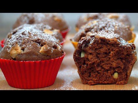 Шоколадные Кексы на молоке | Простой Рецепт!  | Кулинарим с Таней